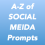 A-Z of social media prompts for Authors by Jay Artale